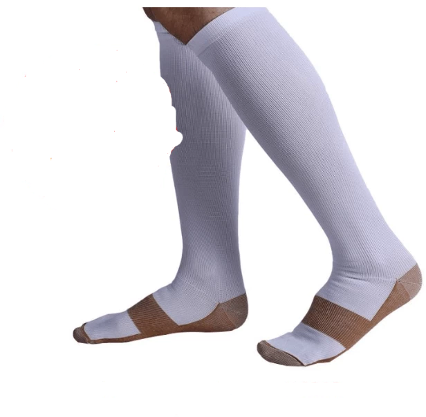 ANTI-FATIGUE COMPRESSION SOCKS UNISEX | BUY 1 PAIR GET 3 PAIRS FREE White / S/M (42-44) Eloxtras