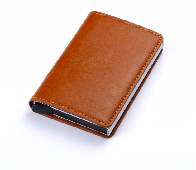 Anti RFID Card Holder Option 2 - Brown Trend Frenzys