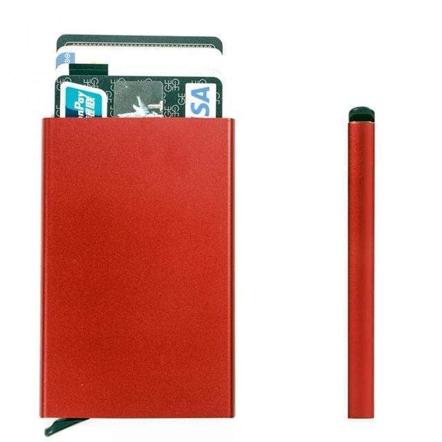 Anti RFID Card Holder Red Trend Frenzys