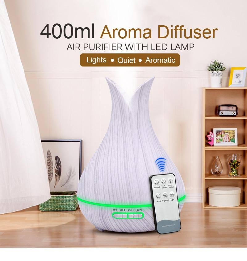 Aroma Essential Oil Diffuser light wood / AU Trendy Joys