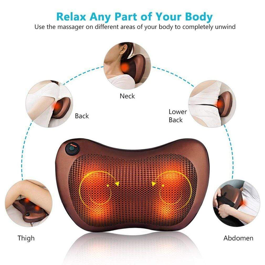 Automatic Shiatsu Neck & Back Massaging Pillow with Heat Trendy Joys