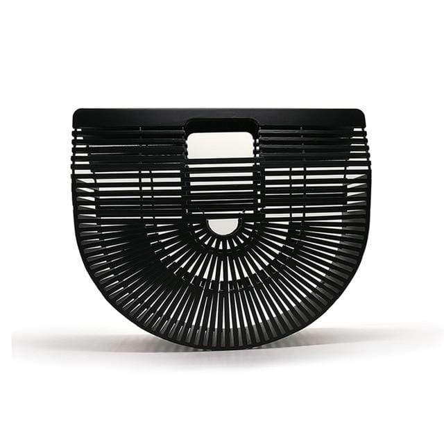 Bamboo Bag - Purse black small Trendy Joys