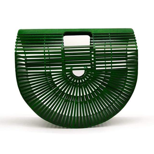 Bamboo Bag - Purse green big Trendy Joys