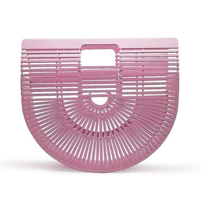 Bamboo Bag - Purse pink big Trendy Joys