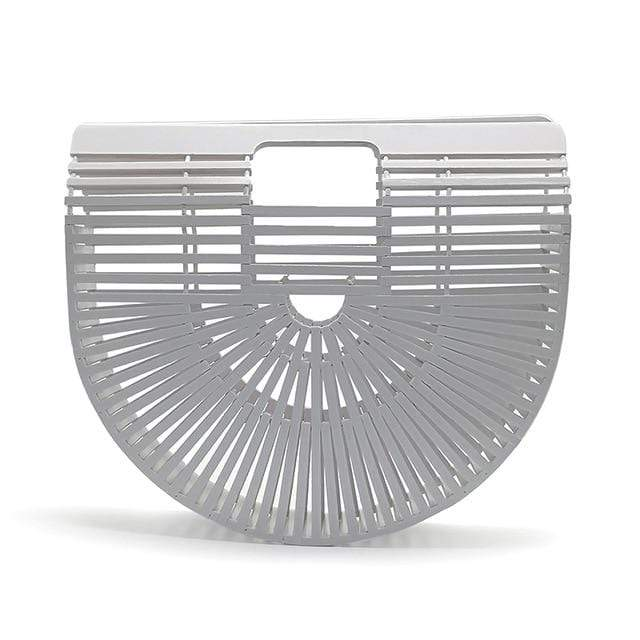 Bamboo Bag - Purse white big Trendy Joys