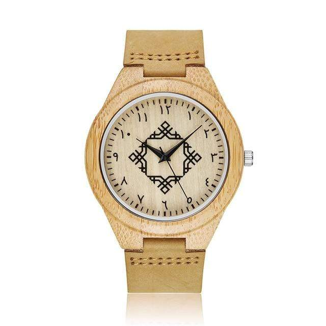 Bamboo Watch for Everyday Wear Ancient Trendy Joys