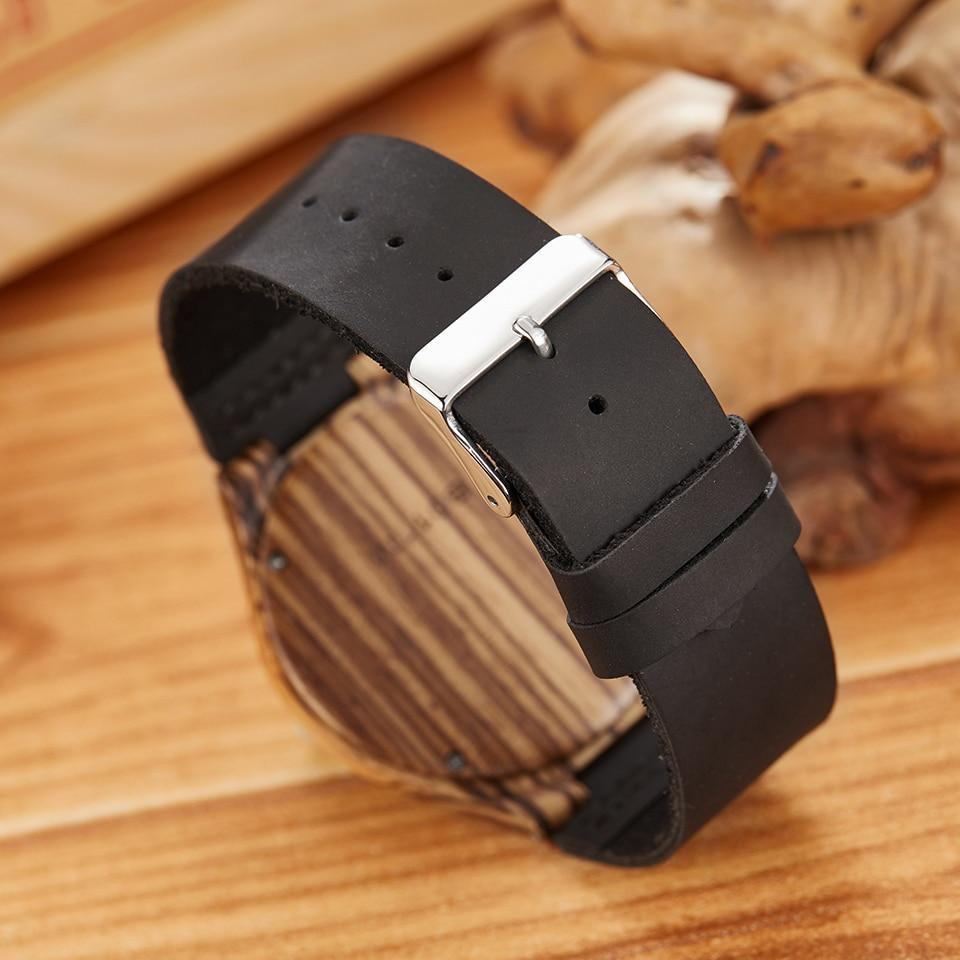 Bamboo Watch for Everyday Wear Classic Black Trendy Joys
