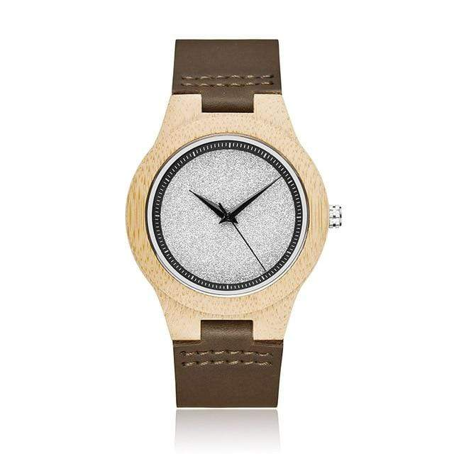 Bamboo Watch for Everyday Wear Gray Stone Look Trendy Joys