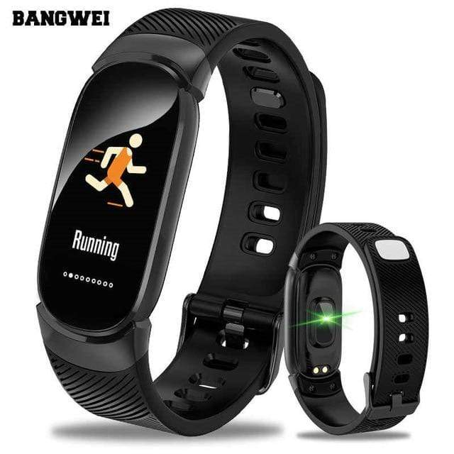Blood Pressure Monitoring & Fitness Tracker Watch black Trendy Joys