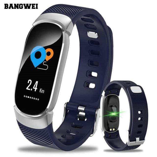 Blood Pressure Monitoring & Fitness Tracker Watch blue Trendy Joys