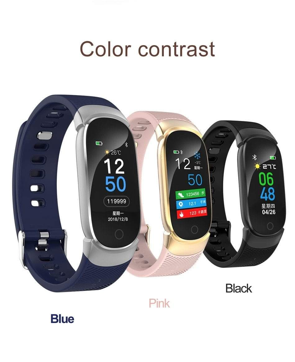 Blood Pressure Monitoring & Fitness Tracker Watch pink Trendy Joys