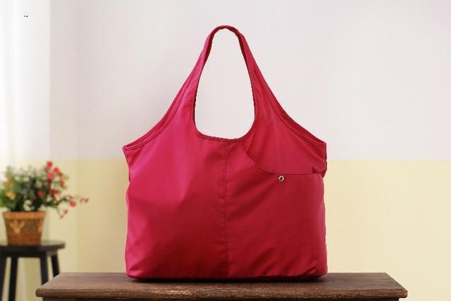 Capacity Oxford Shoulder Bags red Trendy Joys