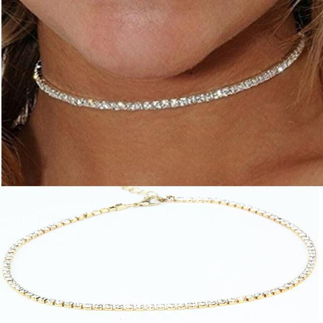 Choker Necklace x186-Gold Trendy Joys