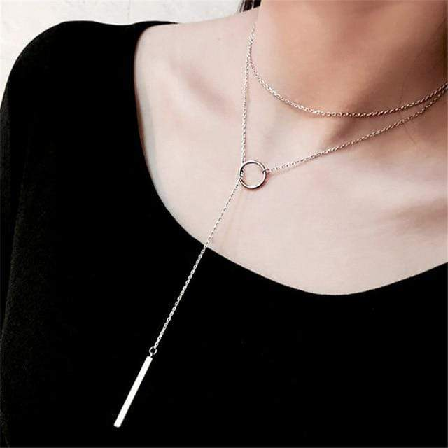 Choker Necklace x205-Silver Trendy Joys