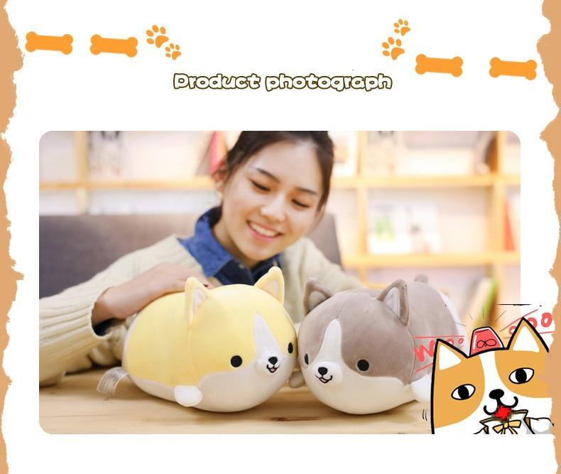 Corgi Pillow Gray / 30CM Trendy Joys