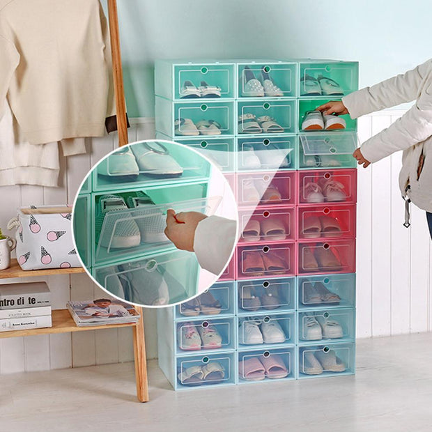 Drawer-Type Stackable Shoe Box Storage Trendy Joys