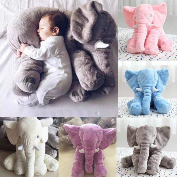 Elephant Plush Pillow Gray Trendy Joys