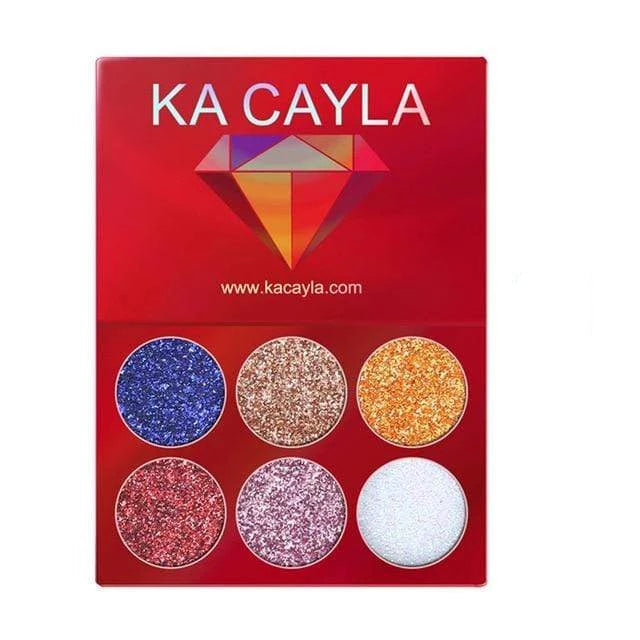 Glitter Palette Eyeshadow 1pcs 6 Trendy Joys