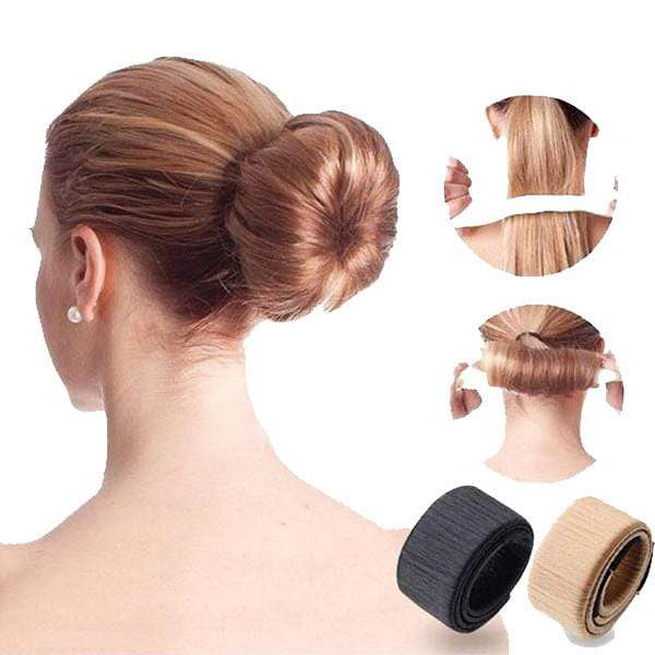 Hair Bun Maker Black Trendy Joys