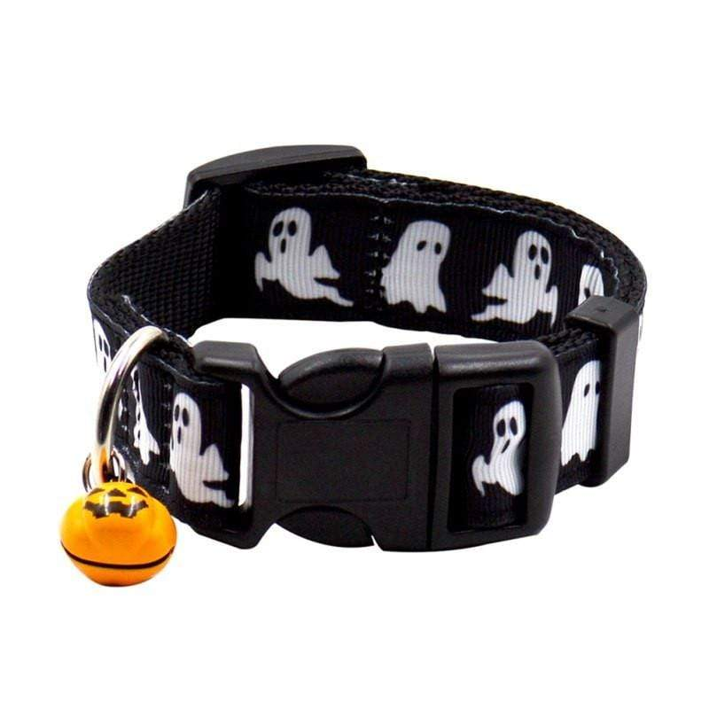 Halloween Collars For Dogs Ghost / L Trendy Joys