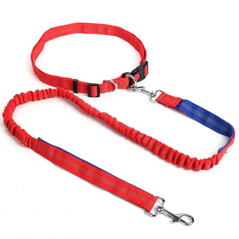Hands Free Dog Leash Red+Blue Trendy Joys