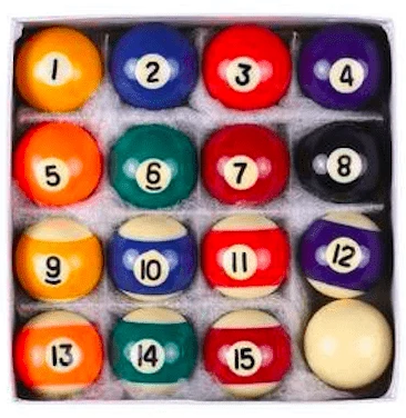 High Quality Resin Billiard Pool Balls - Full Set 38mm Trendy Joys