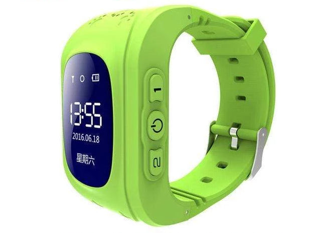 Kids Smartwatch Pedometer & Fitness Tracker - Classic Design Green Trendy Joys