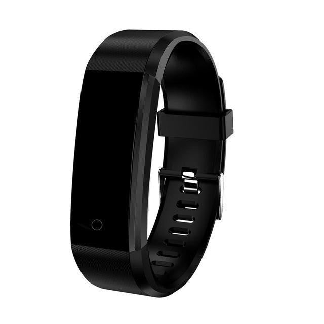 Kids Smartwatch Pedometer & Fitness Tracker - Sporty Design Black Trendy Joys