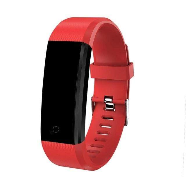 Kids Smartwatch Pedometer & Fitness Tracker - Sporty Design Red Trendy Joys