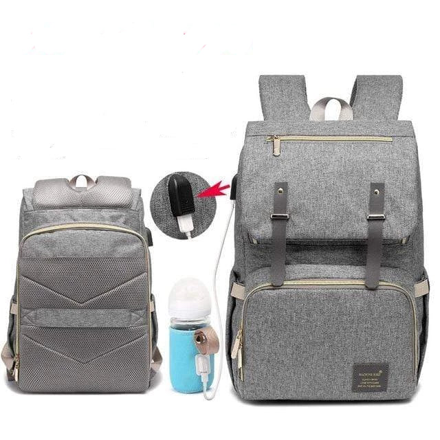 Laptop Diaper Bag Enhanced / Gray Trendy Joys