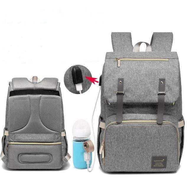 Laptop Diaper Bag Upgraded / Gray Trendy Joys