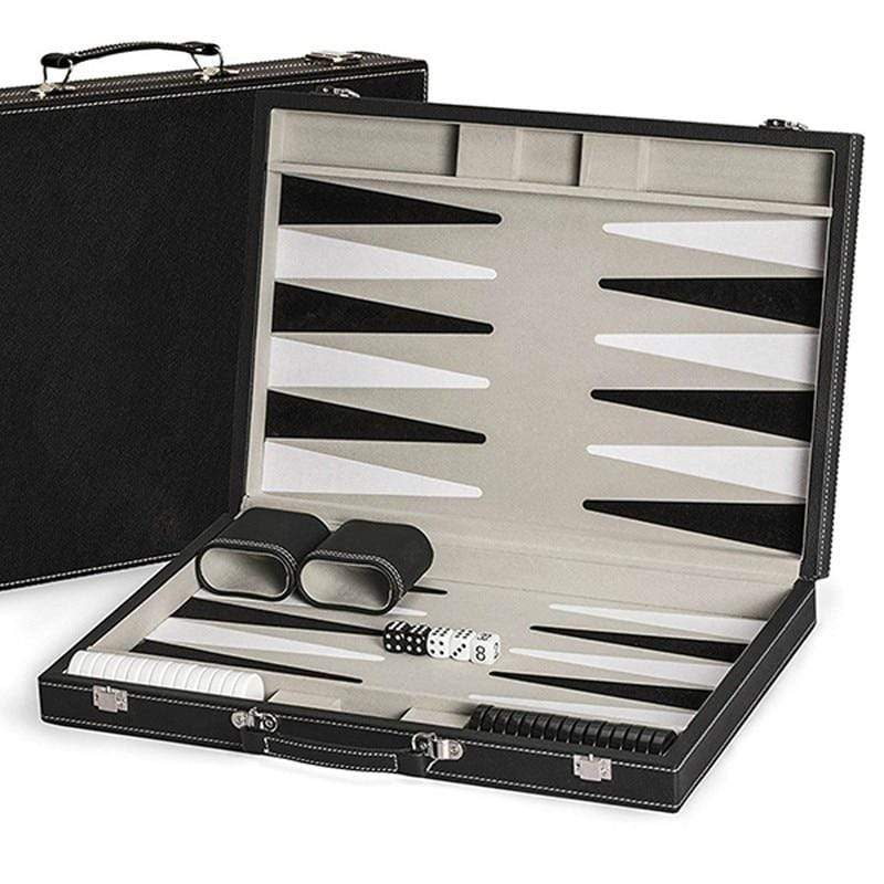Leather Backgammon Set Trendy Joys