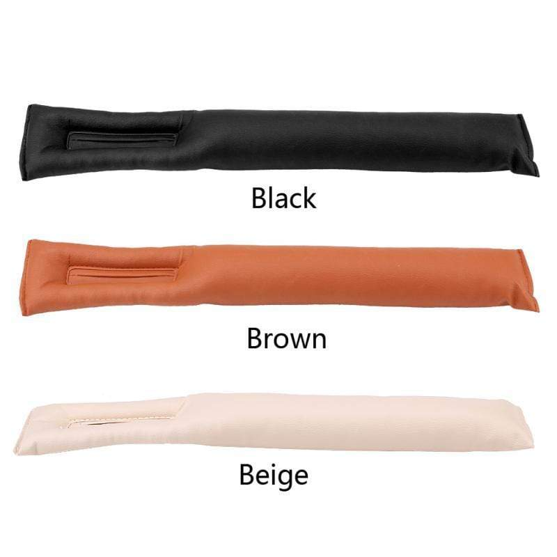 Leather Car Seat Gap Filler Black Trendy Joys