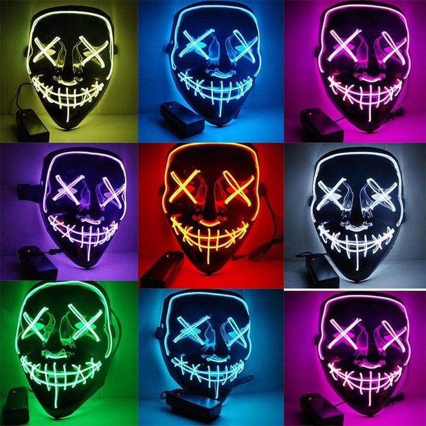 LED Purge Mask for party - Lights Up China / BL Trendy Joys