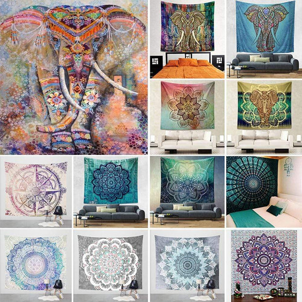 Mandala Tapestry Hippie Wall Decor Trendy Joys