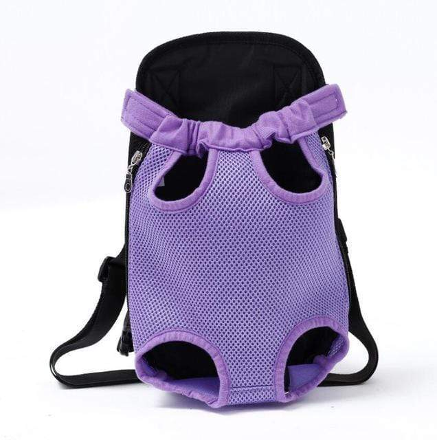 Pet Carrier Dog Front Chest Backpack purple / S Trend Frenzys