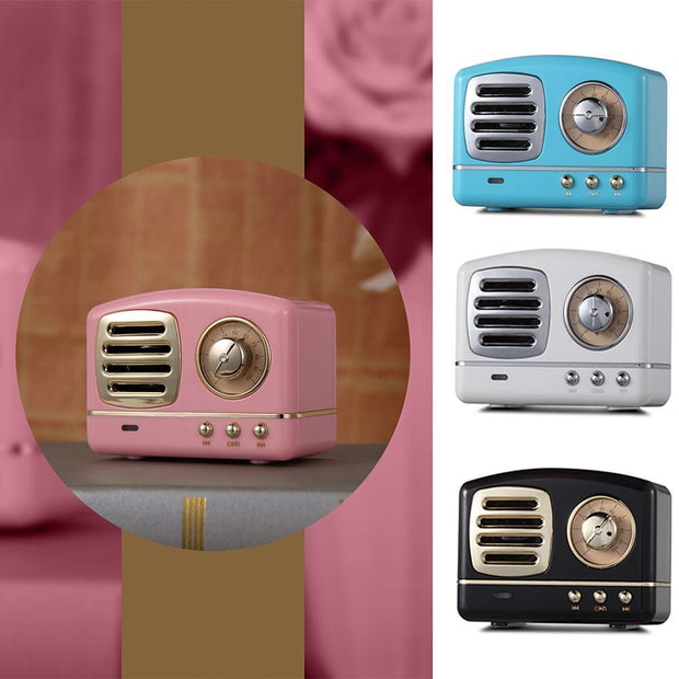 Portable Retro Vintage Bluetooth Speaker Trendy Joys