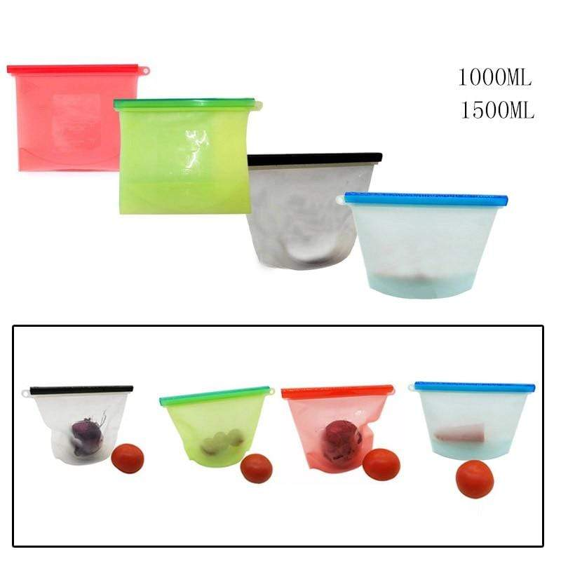 Reusable Silicone Food Bag Blue / 1000ml Trendy Joys