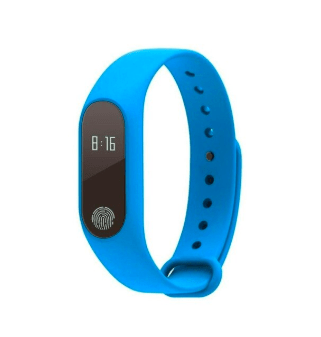 Smartwatch Fitness Tracker Bracelet Blue Trendy Joys