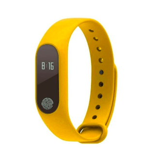 Smartwatch Fitness Tracker Bracelet Yellow Trendy Joys