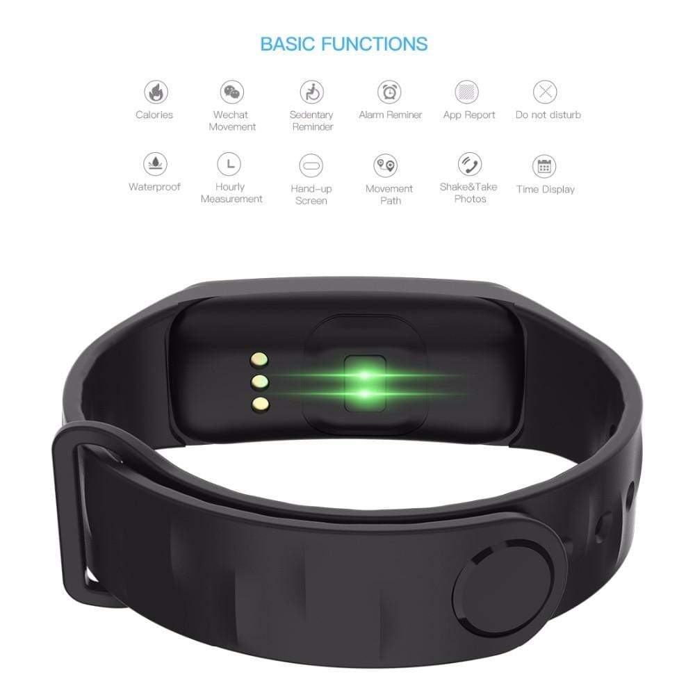 Smartwatch Fitness Tracker with Heart & Sleep Monitor Black Trendy Joys