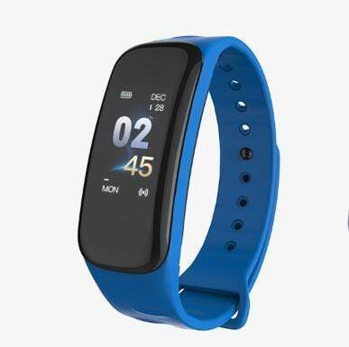 Smartwatch Fitness Tracker with Heart & Sleep Monitor Blue Trendy Joys