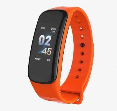 Smartwatch Fitness Tracker with Heart & Sleep Monitor Orange Trendy Joys