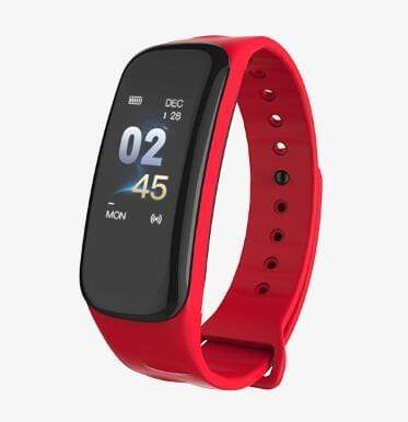 Smartwatch Fitness Tracker with Heart & Sleep Monitor Red Trendy Joys