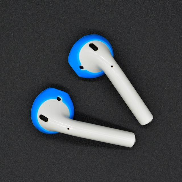 Soft Anti-Slip Silicone Ear Tips for Apple AirPods  and Earpods Blue Trendy Joys