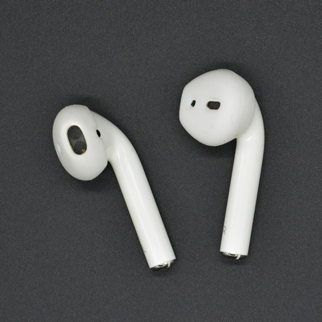 Soft Anti-Slip Silicone Ear Tips for Apple AirPods  and Earpods White Trendy Joys