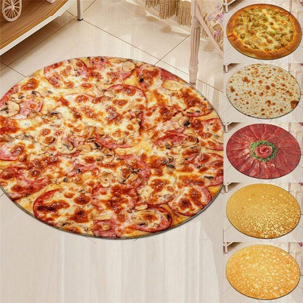 Soft Microfibre Pizza Blanket Trendy Joys