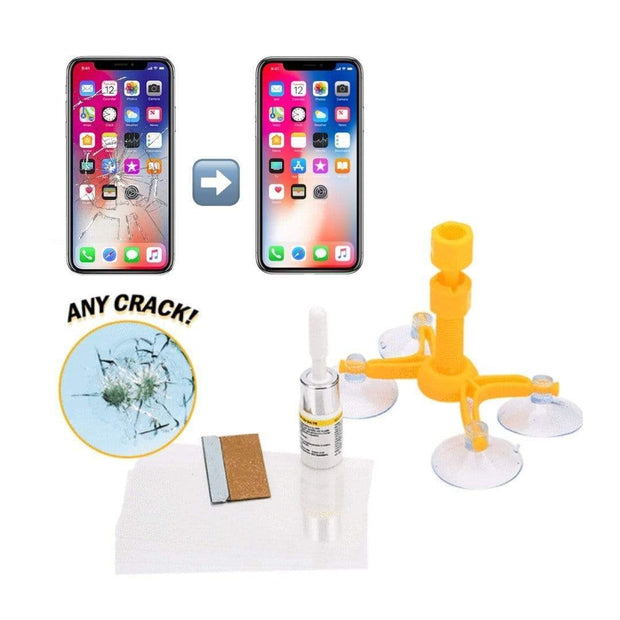 The Magic Cracked Glass & Windshield Repair Kit! Yellow Trendy Joys