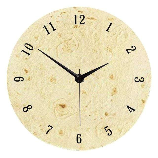 "The Official 12"" Burrito Wall Clock Style B Trendy Joys"