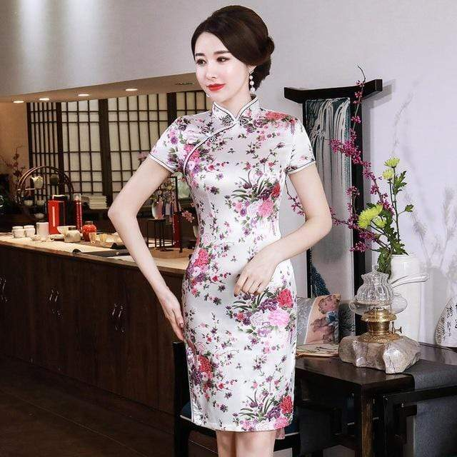 Traditional Satin Chinese Dress Trendy Joys